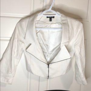 UK2LA crop jacket top front zipper half sleeve